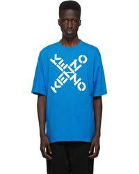 KENZO - ブルー Sport ロゴ T シャツ - Lyst