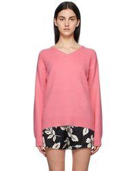 Tom Ford ピンク カシミア V ネック セーター