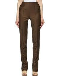 Materiel Tbilisi - Tropical Wool Slit Trousers - Lyst