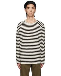 Nudie Jeans Black & White Otto Long Sleeve T-shirt