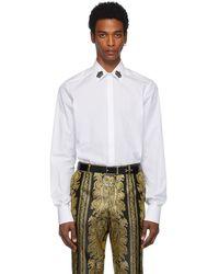 Dolce & Gabbana - ホワイト クラウン カラー シャツ - Lyst