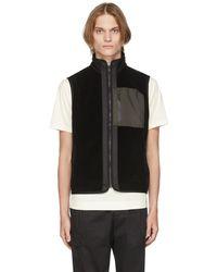 Z Zegna Black Techmerino Padded Full Zip Vest