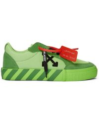 Off-White c/o Virgil Abloh Ssense Exclusive Green Low Vulcanized Sneaker