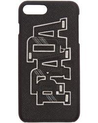 Prada - Black Saffiano Logo Iphone 7 Plus Case - Lyst