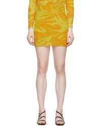 Paloma Wool Flash Print Aeri Miniskirt - Yellow