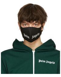 Palm Angels ブラック ロゴ マスク - グリーン