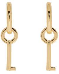 Marc Jacobs - Gold Keyring Mini Hoop Earrings - Lyst
