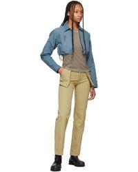 Reese Cooper Pantalon 3D kaki en coton - Neutre