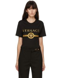Versace - ブラック Vintage Medusa T シャツ - Lyst