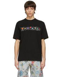 Moschino - ブラック Geometric ロゴ T シャツ - Lyst