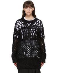 Junya Watanabe ブラック ウール Open Knit セーター