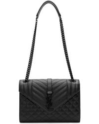 Saint Laurent - Black Medium Envelope Chain Bag - Lyst