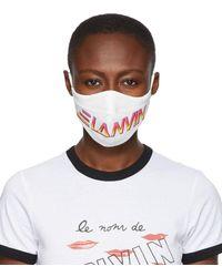 Lanvin Two-pack Multicolour Logo Face Masks - Brown