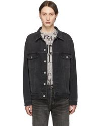 a09ef402753 Balenciaga Black Denim You Are The World Jacket in Black for Men - Lyst