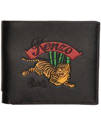 KENZO Portefeuille a deux volets noir Jumping Tiger