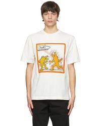 Etudes Studio Keith Haring エディション オフホワイト Wonder T シャツ - マルチカラー