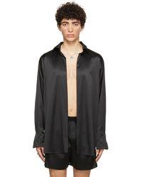 Ludovic de Saint Sernin Ssense Exclusive Black Silk Go To Shirt