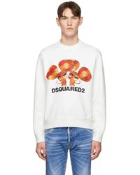 DSquared² White Mouse Cool Fit Sweatshirt