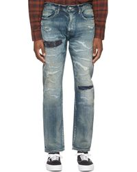 Neighborhood Indigo Scratch Savage Narrow/c-pt Jeans - Blue