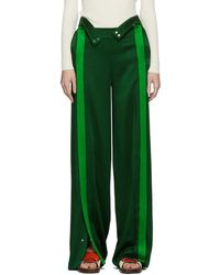 Valentino Green Crepe Lounge Trousers