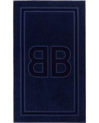 Balenciaga ネイビー Bb ビーチ タオル - ブルー