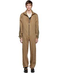 Gucci Brown G Rhombus Jumpsuit - Multicolour