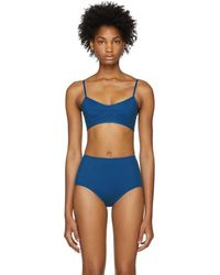 Her Line - Blue Suzy Bikini Top - Lyst