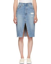 Levi's Blue Denim Deconstructed Skirt