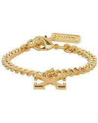 Off-White c/o Virgil Abloh - Ssense Exclusive Gold Arrow Bracelet - Lyst