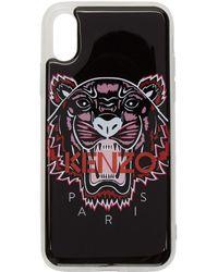 KENZO ブラック 3d タイガー ロゴ Iphone X/xs ケース