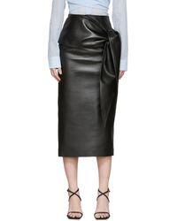 Materiel Tbilisi Faux-leather Waist Tie Skirt - Black