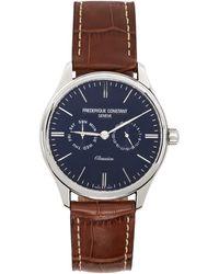 Frederique Constant シルバー And ブラウン Classics Gents Quartz 腕時計 - メタリック