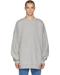 Y. Project - Grey Panelled Hoodie - Lyst
