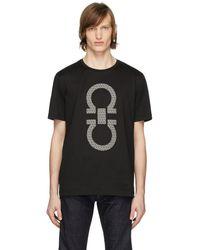 Ferragamo Printed Cotton T-shirt - Black