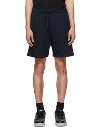 424 Navy Logo Shorts - Blue