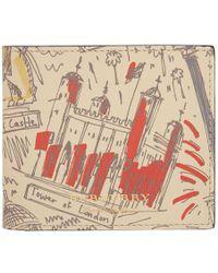 Burberry - Beige Icon Print London Wallet - Lyst