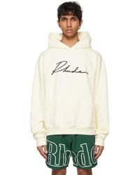 Rhude Ssense Exclusive Off-white Logo Cursive Hoodie