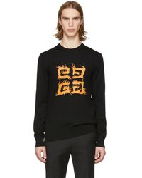 Givenchy - Black Brushed 4g Sweater - Lyst