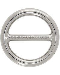 Dries Van Noten ロゴ ブローチ - メタリック