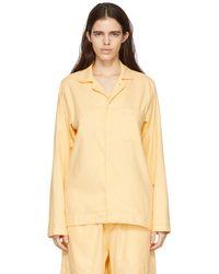 Tekla Chemise de pyjama jaune en flanelle
