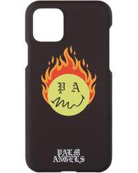 Palm Angels Smiley エディション ブラック Burning Head Iphone 11 Pro ケース - マルチカラー