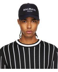 Balmain ブラック ロゴ キャップ