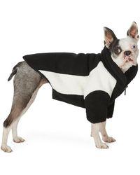 we11done Ssense 限定 リバーシブル ブラック & オフホワイト オーバーサイズ フリース ドッグ ジャケット