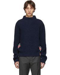 Thom Browne ネイビー ボート ネック セーター - ブルー