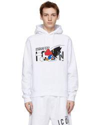 DSquared² ホワイト Mascot Cool フーディ