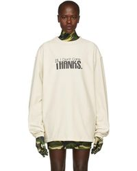 Vetements - White Hi I Dont Care Inside Out Sweatshirt - Lyst