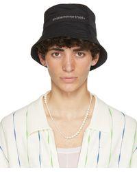 thisisneverthat Black Supplex Long Bill Bucket Hat
