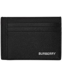 the latest 78687 706b1 Burberry Men's Chase Tartan Clip Card Case - Charcoal in Gray for ...