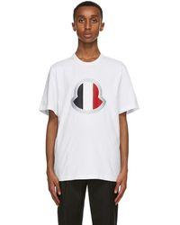 Moncler - ホワイト ラージ ロゴ T シャツ - Lyst