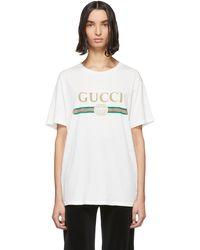 Gucci - ホワイト ビンテージ ロゴ T シャツ - Lyst